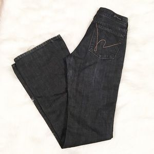 Citizens of Humanity low waist flare dark jeans 27